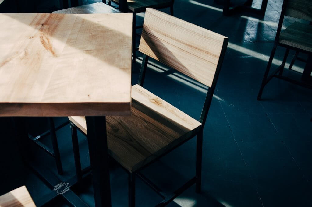 Wooden furniture should be disassembled as much as possible before being stored to reduce the stress on furniture joints.