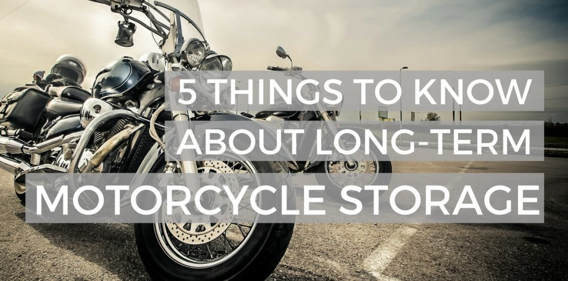 Motorcycle and Vehicle Storage Tips
